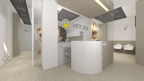 diseño moderno clínica veterianaria