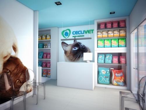 mostrador clínica veterinaria