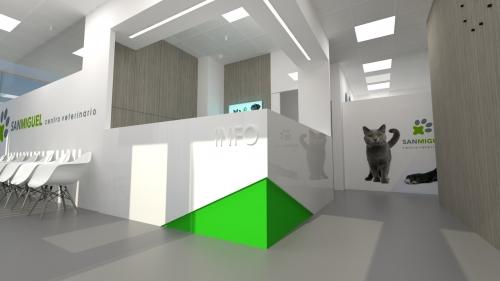 recepción diseño clínica veterinaria