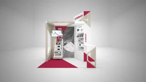 diseño stand médico