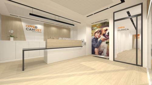 diseño mostrador clínica veterinaria