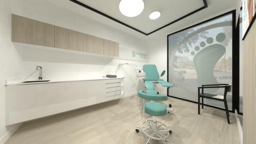 mobiliario clinica podologia